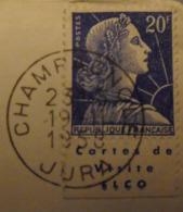 France N° 1011B Type II Sur Lettre. Timbre De Carnet. Bande Publicitaire Publicité Pub. Elco - Publicités