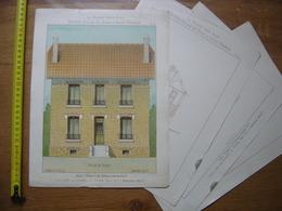 1929 Planche MAISONS POUR TOUS Petites Villas PAVILLON MESNIL St DENIS Thézard 24,5 X 32,5 Cm - Arquitectura
