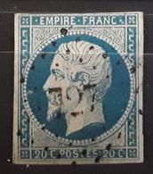 Empire No 14 A  Obl Pc 727 De CHANCEAUX, Cote D'Or  ,  Indice 19,  Belle Frappe TB - 1853-1860 Napoleon III