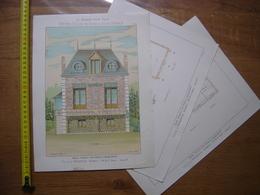 1929 Planche MAISONS POUR TOUS Petites Villas VILLA A BRIGHTON Les Charmettes Thézard 24,5 X 32,5 Cm - Architecture