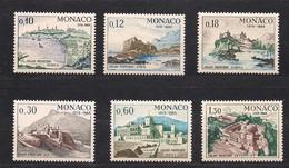 Monaco 1966 Yvertn° 677-682 *** MNH Cote 4,50 Euro Le Palais Princier - Monaco