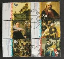 Nederland/Netherlands - Nrs. 1826 T/m 1831 - 6 Zegels In Blokje (gestempeld/used) 1999 - Periodo 1980 - ... (Beatrix)