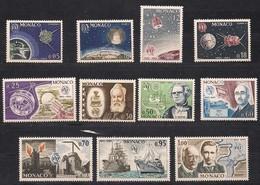 Monaco 1965 Yvertn° 664-674 *** MNH Cote 14,10 Euro U.I.T. - Monaco