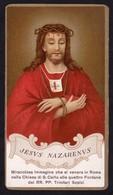 Santino: JESUS NAZARENUS - E - PR -Chiesa S. Carlo Alle 4 Fontane-Roma-RI-SANT30 - Religione & Esoterismo