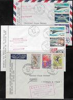 France Enveloppe  Commémorative 1er Vol  Concorde 21 Janvier 1976 Et Boing 737 23 Avril 1968 - Postmark Collection (Covers)