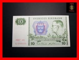 SWEDEN 10 Kronor 1987 P. 52 VF \ XF - Suecia