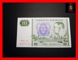 SWEDEN 10 Kronor 1990 P. 52 UNC - Suecia