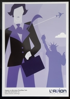 L'avion Paris New York Carte Postale - Advertising