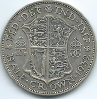 United Kingdom / Great Britain - 1932 - ½ Crown - George V - KM835 - 1902-1971 : Monete Post-Vittoriane