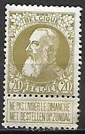BELGIQUE    -    1905.     Y&T N° 75 * . - 1905 Thick Beard