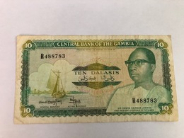 GAMBIA - 10 DALASIS - ND(1987-1990)  - PICK:10b - Gambia