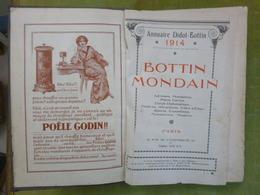 Annuaire DIDOT-BOTTIN  - 1914 - BOTTIN MONDAIN  - Adresses Mondaines, Plans, Cartes, Corps Diplomatique. Théâtres... - Dictionaries