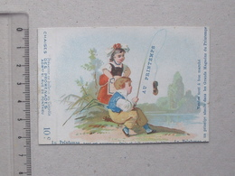 CHROMO Ticket De Chaise Des Promenades (chaises): Magasin AU PRINTEMPS - HUMOUR Pêche Demoiselle Amoureux DANGEVILLE - Other