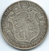 United Kingdom / Great Britain - 1918 - ½ Crown - George V - KM818.1 - 1902-1971 : Post-Victorian Coins