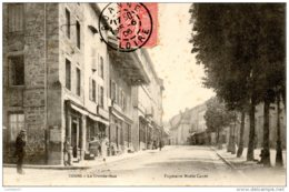 69 RHONE La Grande Rue De COURS Carte Précurseur édition Papéterie Marie Canet - Cours-la-Ville