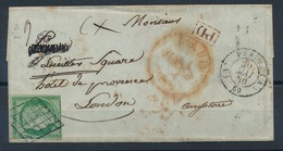 """DP-28: FRANCE: Lot Avec """"CERES """" N°2 (lettre Sans Correspondance Pour Londres En PD !! Compté Timbre Seul 2ème Choix - 1876-1898 Sage (Type II)"""