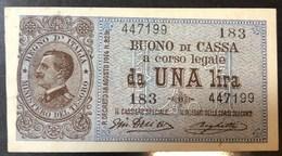 1 Lira Vitt. Em. III° Serie 162 Del 28 12 1917 NC  Sup/q.fds Ottimo Esemplare LOTTO 453 - [ 1] …-1946: Königreich