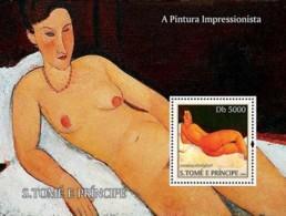 S. TOME & PRINCIPE 2004 - Impressionists - Modigliani - São Tomé Und Príncipe
