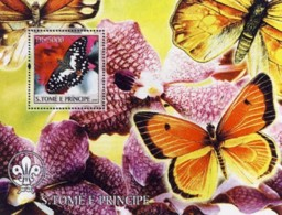 S. TOME & PRINCIPE 2004 - Butterflies & Orchids - Sao Tome Et Principe