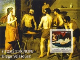 S. TOME & PRINCIPE 2004 - Spanish Art (D. Velasquez) - Sao Tome And Principe
