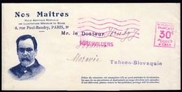 France Aubervilliers / Nos Maitres Revue Médicale Du Monde Pasteur, Medicine / Newspaper Wrapper / Machine Stamp - Zeitungsmarken (Streifbänder)