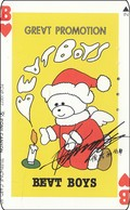 Japan Phonecard  Weihnachten Merry Christmas + Teddybär + Spielkarte - Weihnachten