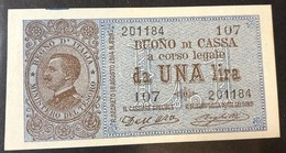 1 LIRA VITTORIO EMANUELE III° 21 09 1914 FDS OTTIMO E INTERESSANTE BIGLIETTO  LOTTO 456 - Italia – 1 Lira