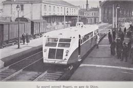 Autorail Bugatti  En Gare Dijon   -  15x10cms PHOTO - Trains