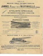 Manufacture Instruments Agricoles 88 MARTINVELLE / JANNEL / Manèges-Terre, Batteuses, Tarares - Agricoltura