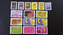 France Timbres Oblitérés  N°4308 à 4321 Année 2008 - Bonnes Fêtes - Série Complète - Francia