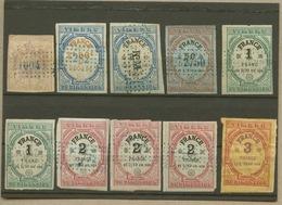 Lot De 17 Timbres De DIMENSION (et Copies) Dont N°42 Neuf - Fiscaux