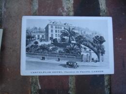 Castelflor Hotel Pension Famille Cannes Cpa Illustrateur - Hotel's & Restaurants