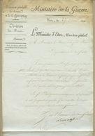 Lettre à En-tête Signée Du Général Lacuée Comte De Cessac En 1809 - Autographes