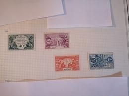 MAURITANIE COTE 31€ N° 62 / 65 EXPOSITION COLONIALE PARIS 1931 NEUF * TB MH - Neufs