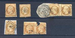 160520///// POUR OBLITERATION .............petit Lot  13A Et 13B   Mauvais état - 1853-1860 Napoleon III