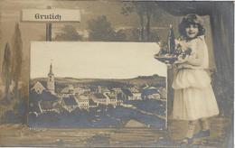 1907 - KRALIKY   Grulich  Okres PARDUBICE , Gute Zustand, 2 Scan - Tchéquie
