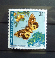 TIMBRE NEUF PAPILLON WALLIS ET FUTUNA 1974 Papillons - Papillons
