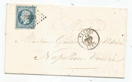 - LOIRE INFERIEURE - NANTES PC 2221 S/TPND Napoleon III N°10 Luxe  + Càd Type 15 - 1853 - 1852 Luis-Napoléon