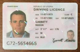 ÉTATS-UNIS USA DRIVING LICENCE DUMMY CARTE DE SALON SAMPLE CARD - Cartes De Salon Et Démonstration