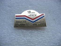 Pin's Du 18e Rallye Des Plaines Et Vallées Les 22, 23 Et 24 Novembre 1991 Sous Couverture De  L'ASCA - Rallye