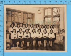 Photo Couvent Sacré-Coeur Magog Quebec -  Classe De Jeune Femme Vers 1945 - - Photos