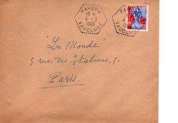 Sur Enveloppe Cachets Postaux FAUCON  VAUCLUSE 1960 - 1961-....