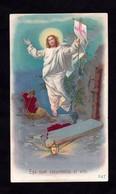 Santino: GESU' RISORTO - E - PR - Cromolitografia . RI-SANT2 - Religione & Esoterismo