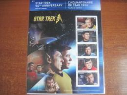 CANADA 2016 Star Trek  S/S MNH - Neufs