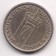NORUEGA - 1 KRONE DE 1954 - Norvegia