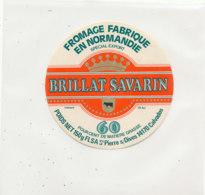 Y 167   /  ETIQUETTE DE  FROMAGE - BRILLAT SAVARIN   F L S A. ST PIERRE SUR DIVES (CALVADOS) - Fromage