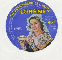 Y 171   /  ETIQUETTE DE  FROMAGE -CAMEMBERT  LORENE  ST HUBERT NANCY - Fromage
