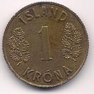 ISLANDIA - 1 KRONA DE 1962 - Islande