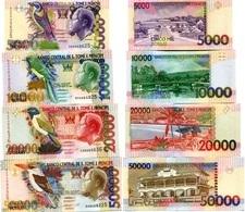 SAINT THOMAS & PRINCE Set (4v) 5000 10000 20000 50000 Dobras P 65 A 66 D 67 D 68 A UNC - Sao Tome And Principe