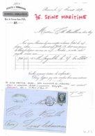 76 - SEINE MARITIME - F-76-2 - ROUEN - Lettre Commerciale DUBOSC&VORANGER - Achats Et Commission - Généalogie - 1859 - France